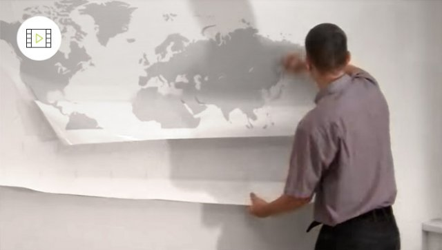 Jak nalepit samolepku na zeď střední velikosti, video návod